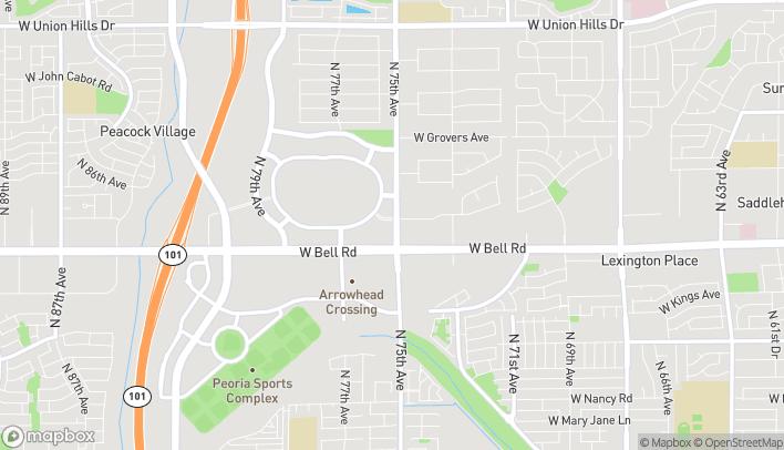 Map of 7530 W Bell Rd in Glendale