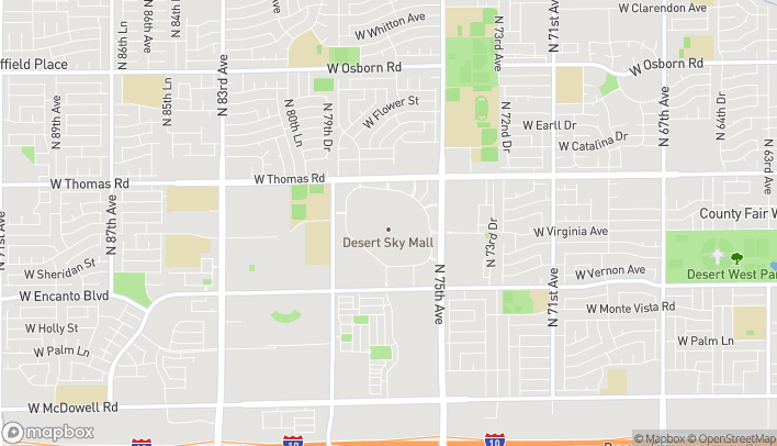 Map of 7611 W Thomas Rd in Phoenix
