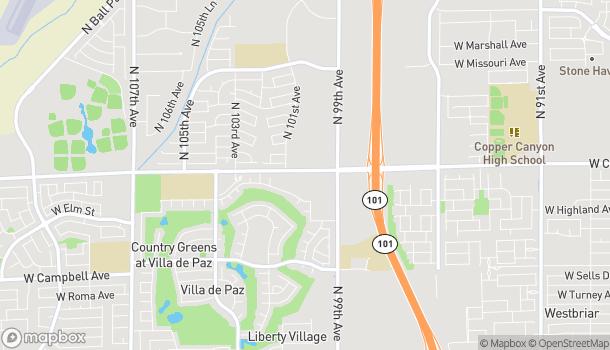 Mapa de 9925 W Camelback Rd en Phoenix