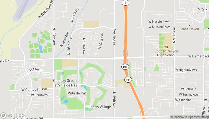Map of 9925 W Camelback Rd in Phoenix