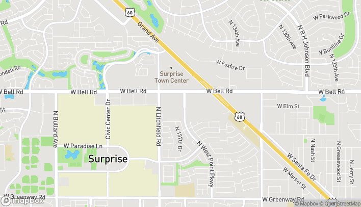 Map of 13757 W Bell Rd in Surprise