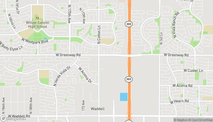 Mapa de 16995 W Greenway Rd en Surprise
