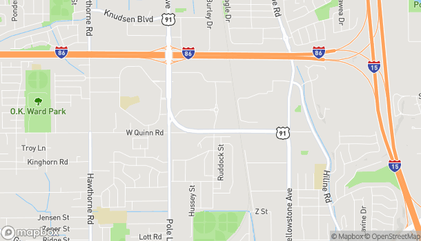 Map of 1737 Hurley Drive in Pocatello