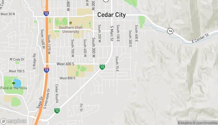 Map of 603 S Main St in Cedar City