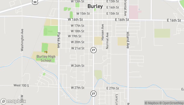 Map of 2154 Overland Ave in Burley