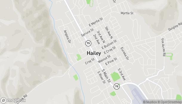 Map of 111 N Main St in Hailey