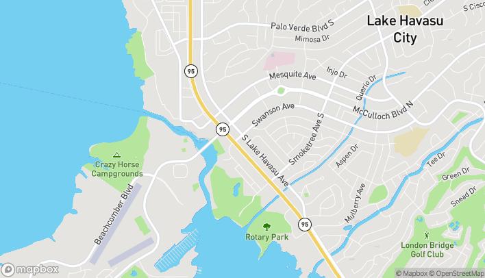 Map of 55 S Lake Havasu Ave in Lake Havasu City