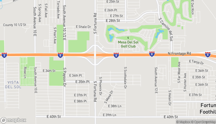 Map of 11259 S Frontage Road in Yuma