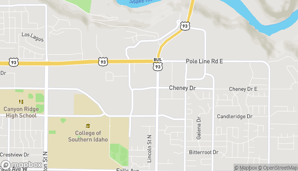 Map of 799 Cheney Drive in Twin Falls
