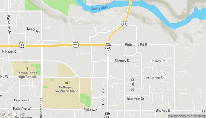 Mapa de 799 Cheney Drive en Twin Falls
