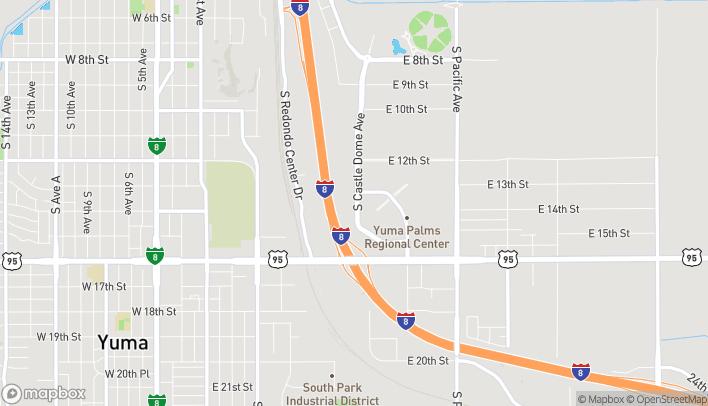 Mapa de 1380 S Castle Dome Ave en Yuma