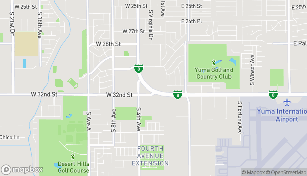Map of 276 W 32nd St in Yuma
