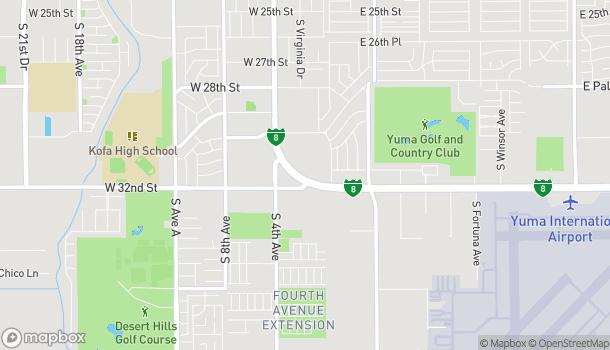 Mapa de 276 W 32nd St en Yuma