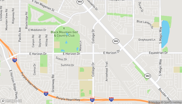Map of 591 College Drive in Henderson
