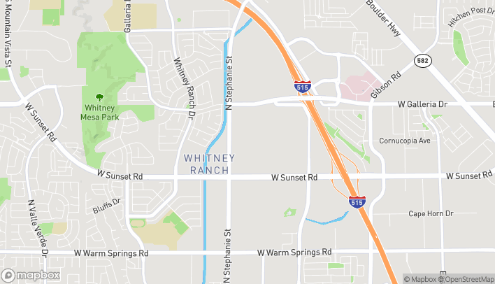 Map of 1300 West Sunset Road in Henderson