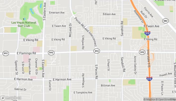 Map of 3280 E Flamingo Road in Las Vegas