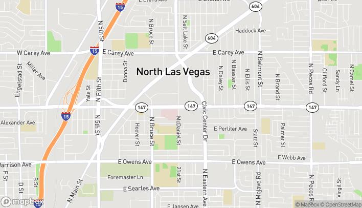 Map of 2010 E Lake Mead Blvd in North Las Vegas