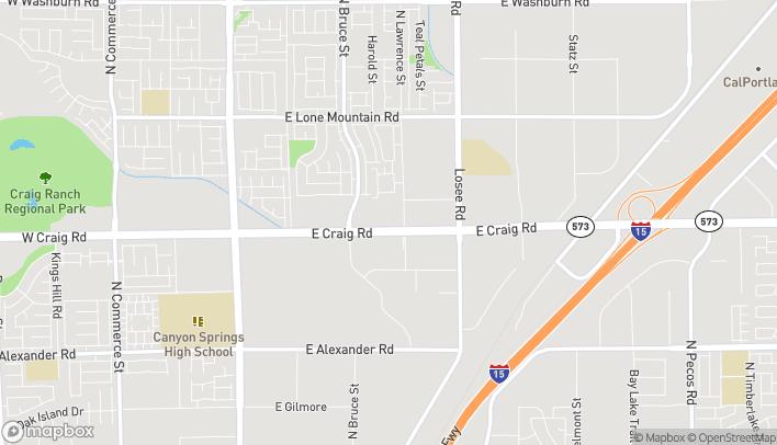 Map of 1820 E Craig Road in North Las Vegas