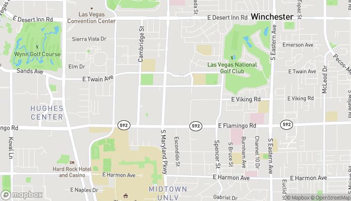 Map of 3890 S. Maryland Parkway in Las Vegas