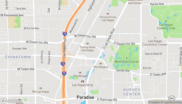 Map of 3200 South Las Vegas Blvd in Las Vegas