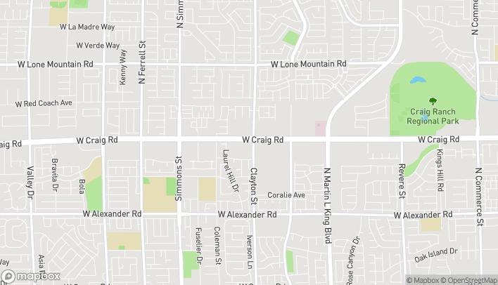 Map of 2015 W Craig Road in North Las Vegas