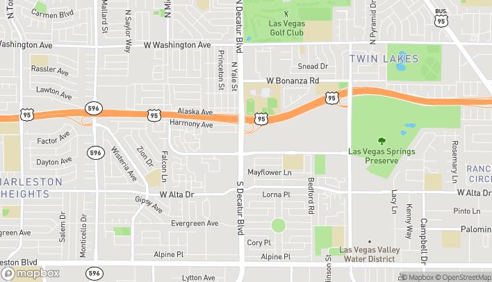 Map of 4700 Meadows Lane in Las Vegas