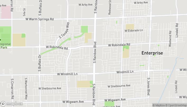 Map of 7815 S Rainbow Blvd in Las Vegas