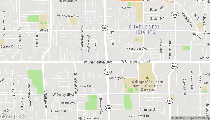 Map of 1049 South Rainbow Blvd in Las Vegas