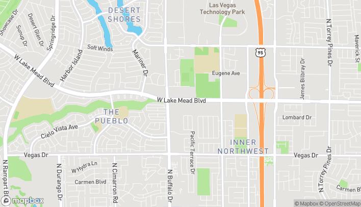 Map of 7531 West Lake Mead Boulevard in Las Vegas