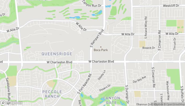 Map of 920 S Rampart Blvd in Las Vegas