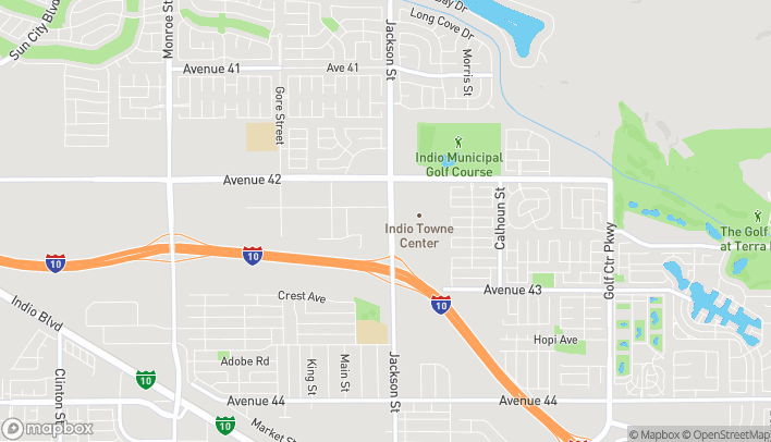 Mapa de 42425 Jackson Street en Indio