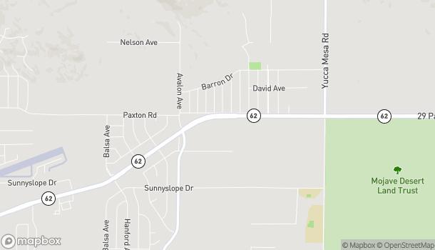 Map of 58709 Twenty-Nine Palms Hwy in Yucca Valley