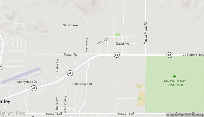 Mapa de 58709 Twenty-Nine Palms Hwy en Yucca Valley