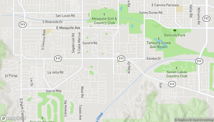 Mapa de 2465 E Palm Canyon Drive en Palm Springs