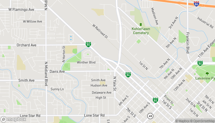 Map of 176 Caldwell Blvd in Nampa