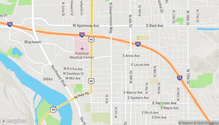 Mapa de 202 W Ironwood Dr en Coeur D Alene