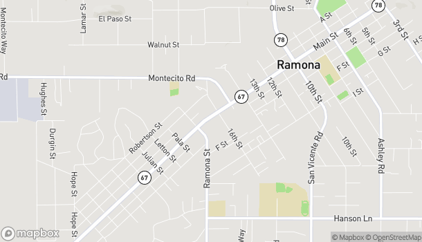 Map of 1662 Main Street in Ramona