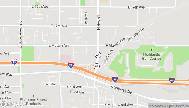 Map of 4082 E Primrose Lane in Post Falls