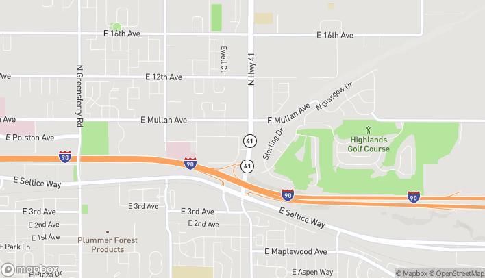 Mapa de 4082 E Primrose Lane en Post Falls
