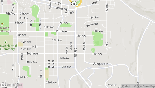 Map of 1325 21st St in Lewiston