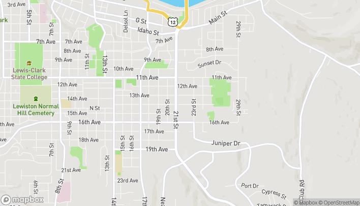 Mapa de 1325 21st St en Lewiston