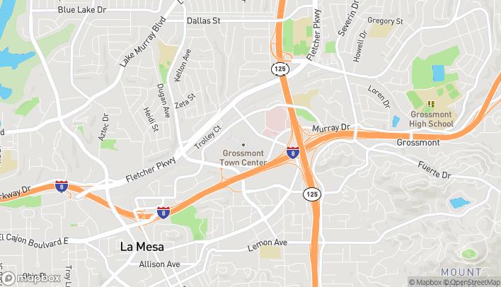 Map of 5500 Grossmont Center Dr in La Mesa