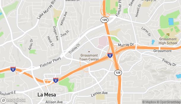 Mapa de 5500 Grossmont Center Dr en La Mesa