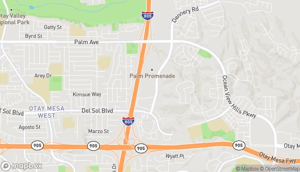 Mapa de 940 Dennery Rd en San Diego
