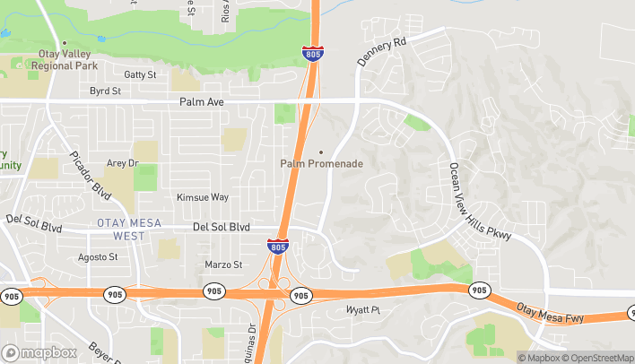 Map of 940 Dennery Rd in San Diego