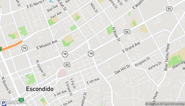 Map of 1201 E Valley Pkwy in Escondido