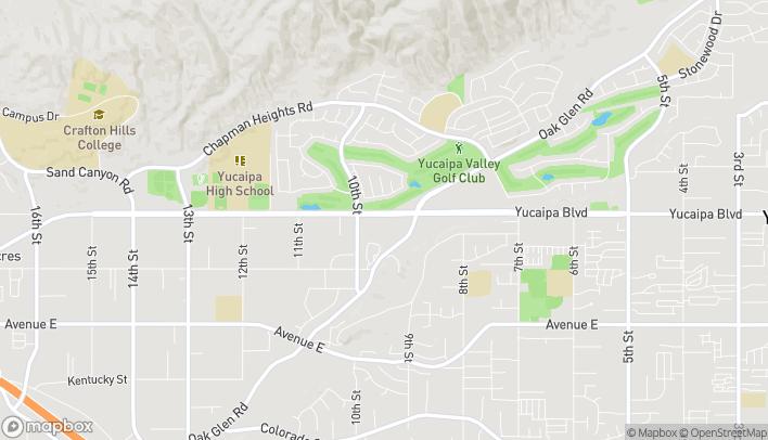 Mapa de 33423 Yucaipa Blvd en Yucaipa