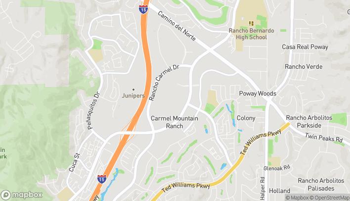 Mapa de 11954 Carmel Mountain Road en San Diego