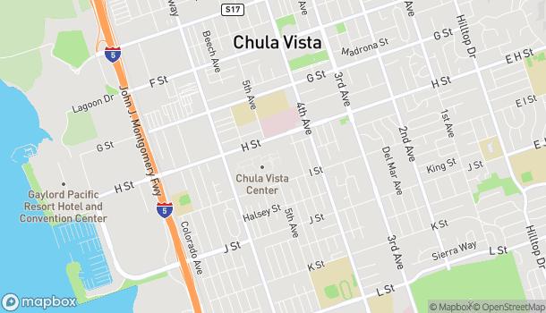 Mapa de 555 Broadway en Chula Vista