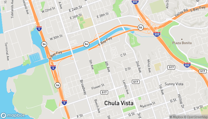 Map of 8 North 4th Ave in Chula Vista